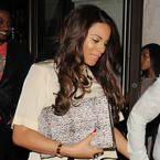 Rochelle Humes works post-pregnancy bodycon with Marvin