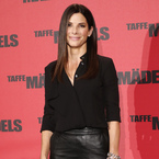 Sandra Bullock styles up ASOS leather skirt for The Heat photocall
