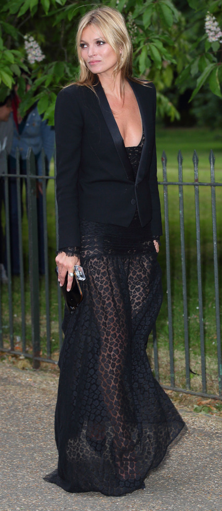 Kate Moss's sheer skirt