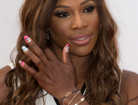 Serena Williams - wimbledon - nail art - tennis - sports celebrity - handbag.com
