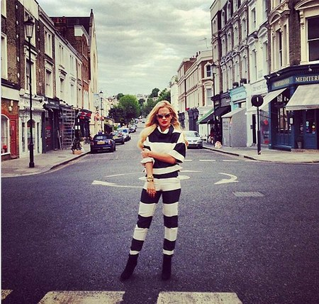 Rita Ora in Monochrome Stella McCartney