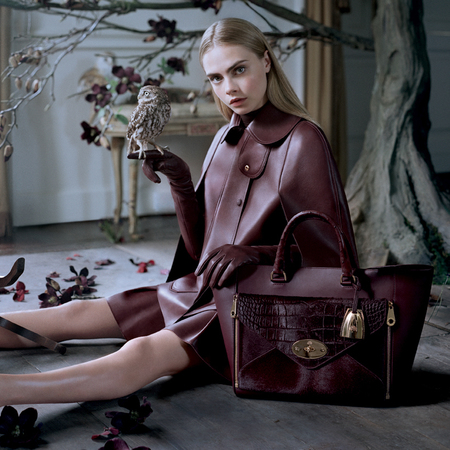 Cara Delevingne for Mulberry AW13 campaign