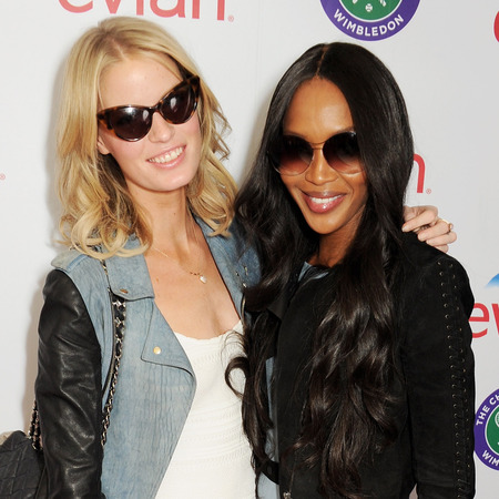 Naomi Campbell and Caroline Winberg at Wimbledon