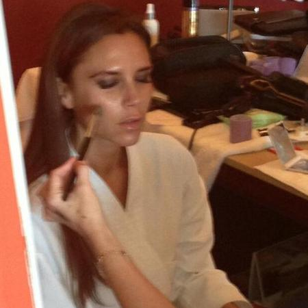 Victoria Beckham has her makeup done in China