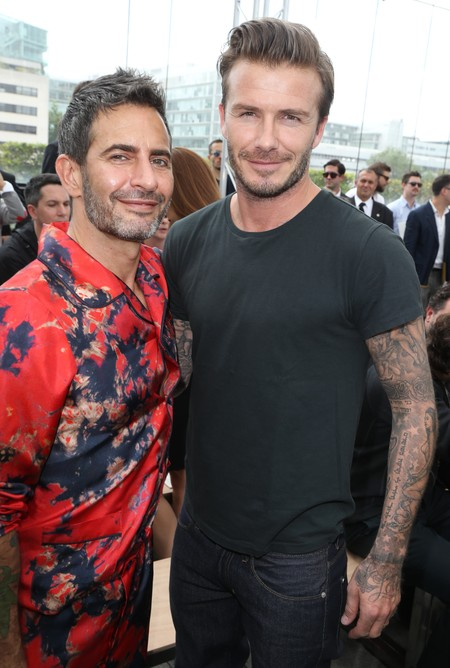 David Beckham and Marc Jacobs at Louis Vuitton SS14 menswear