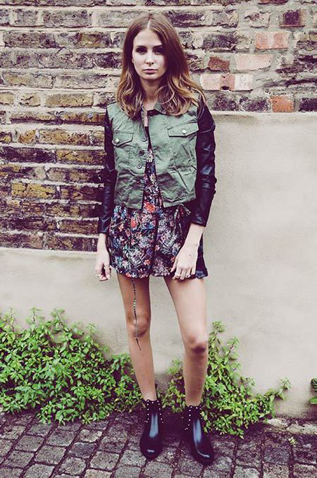 Millie Mackintosh wears £24.99 Missguided jacket