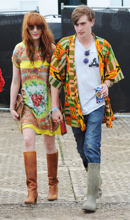Florence Welch pictured backstage at Glastonbury 2013
