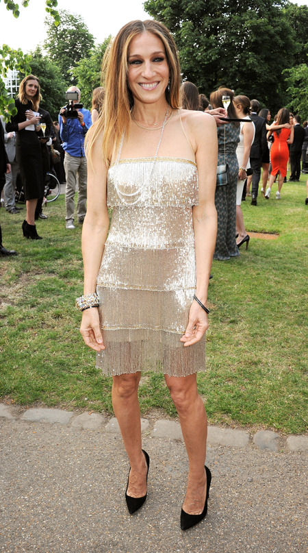 Sarah Jessica Parker wears 20s flapper dress for L'Wren Scott summer party in London