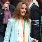 WIMBLEDON: Kim Sears sports new Mulberry Willow on day one