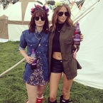 Glastonbury: Millie Mackintosh, Alexa Chung & Caroline Flack