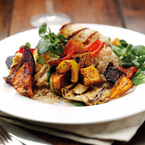 Tea Roasted Vegetables with Brown Rice & Halloumi