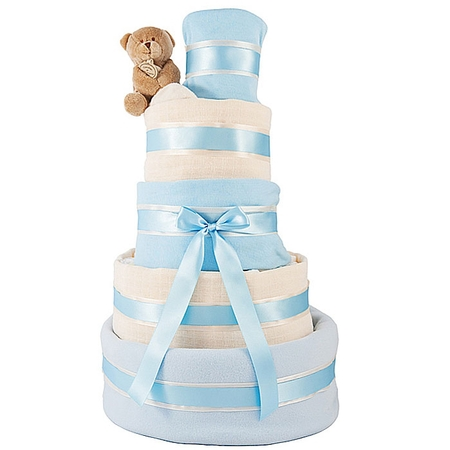 Baby nappy cake for baby showers