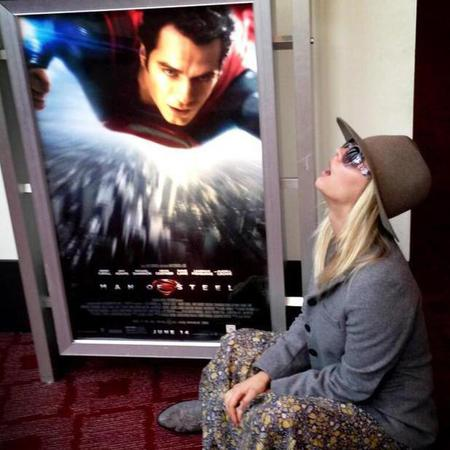 Kaley Cuoco staring as Henry Cavill - Man Of Steel poster
