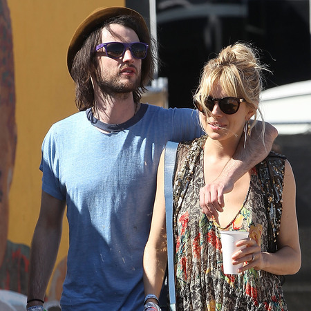 Sienna Miller and Tom Sturridge at Glastonbury 2013