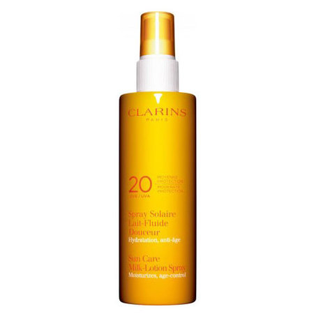 Clarins Sun Spray Gentle Milk-lotion Moderate Protection UVB 20