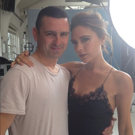 Victoria Beckham behind the scenes on new shoot