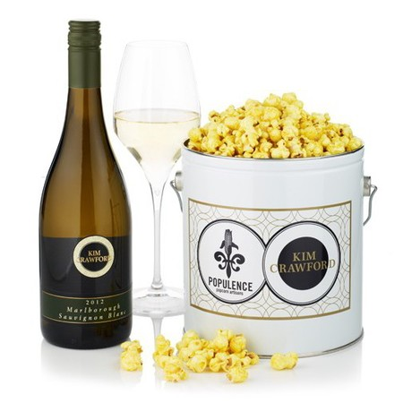 Wine infused popcorn