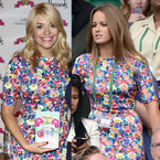 FASHION FIGHT: Kim Sears v Holly Willoughby in Zara florals