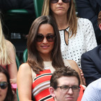WIMBLEDON: Pippa Middleton is pretty in printed Temperley dress