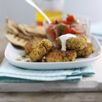 BBQ Ideas: Homemade Falafel with a yoghurt dip