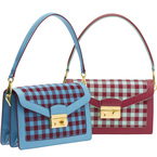 AW13 BAGS: Prada's Jacquard vichy shoulder bag