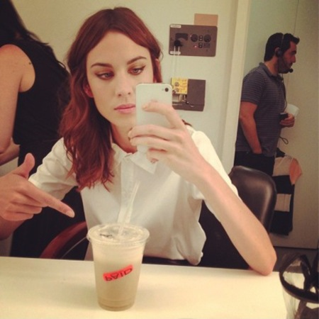 Alexa Chung's flawless beauty look