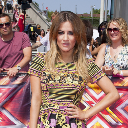 Caroline Flacks wears Topshop at X factor