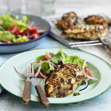 Yoghurt Spiced Chicken & Salad by Paul Merrett