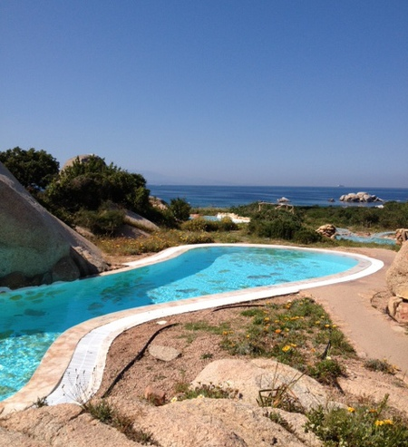 Pools at the Valle dell'Erica spa, Sardinia