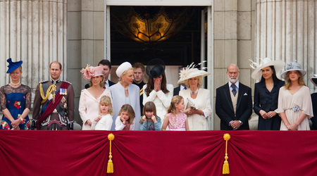 Extended royal family at the Trooping of the Colour in 2011