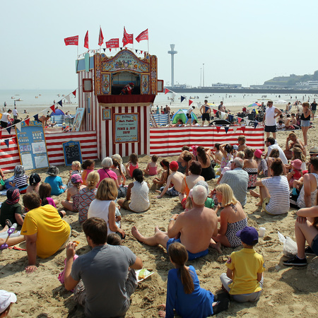 British beach in heatwave