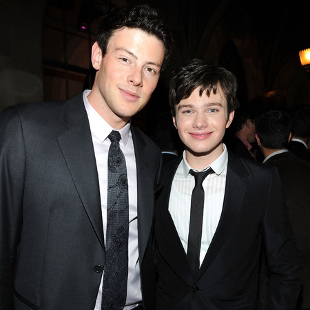 Glee co-stars Chris Colfer and Cory Monteith