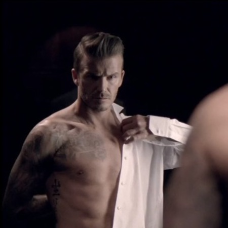 David Beckham teases topless advert for new Classic fragrance