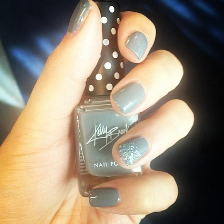 Kelly Brook for New Look nail art