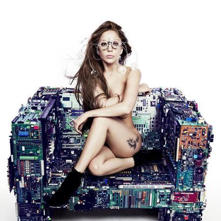 Lady Gaga naked Artpop promo