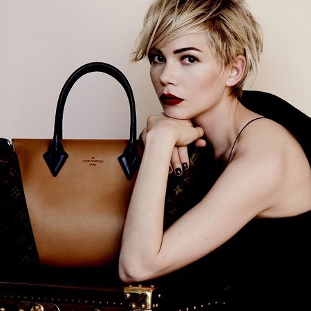 Michelle Williams for Louis Vuitton W handbag AW13