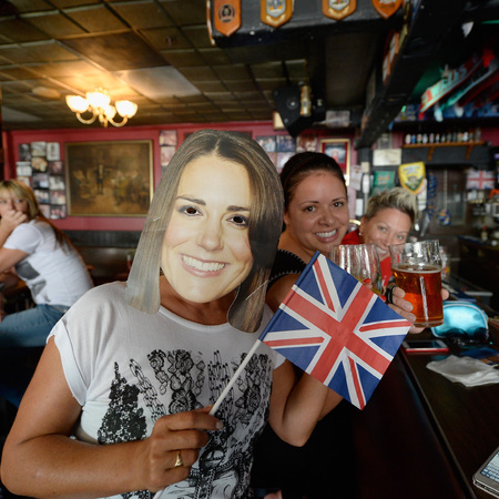 Royal baby party in pub