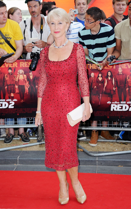 Helen Mirren glitters in Jenny Packham at RED 2 premiere