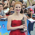 Jessica Chastain goes glam in lacy Dolce & Gabbana