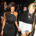 Miley Cyrus & Nicole Scherzinger party in dressed-down style