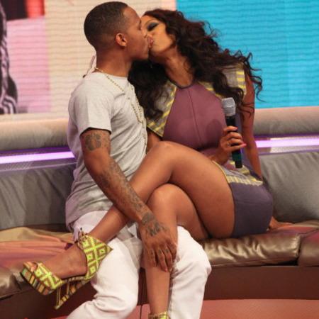 Bow Wow and Tyra Banks Kiss