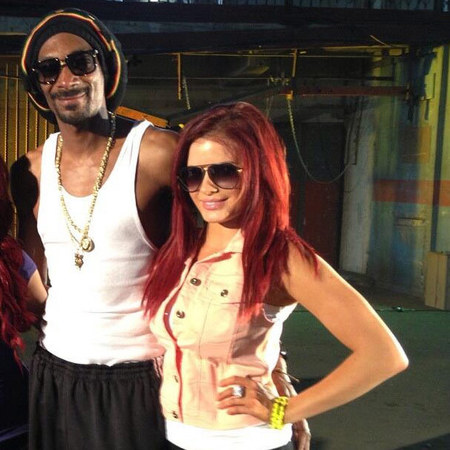 British Playboy model Carla Howe and Snoop Dogg