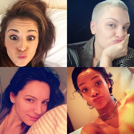 Celebrity no makeup selfies