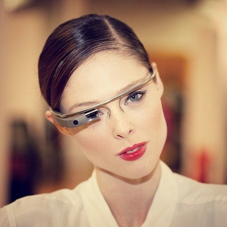 Coco Rocha in Google Glass