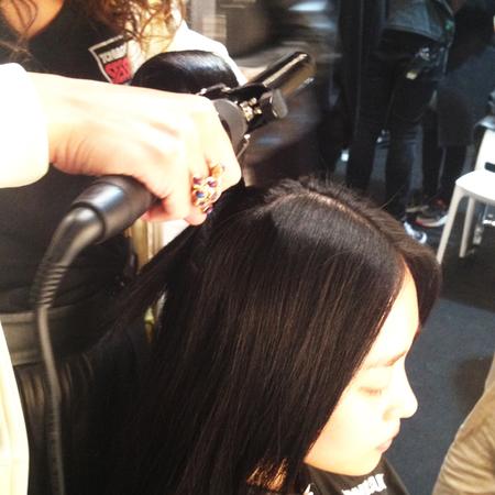 London Fashion Week backstage hairstyling with Toni & Guy