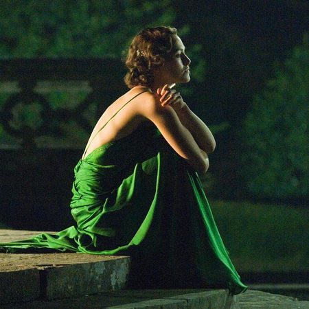 Keira Knightely Atonement green dress