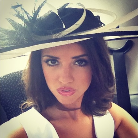 Lucy Mecklenburgh is pout perfect for Goodwood