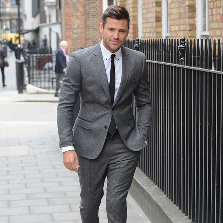 Mark Wright on his way to a photocall to announce himself as a brand ambassador for Littlewoods