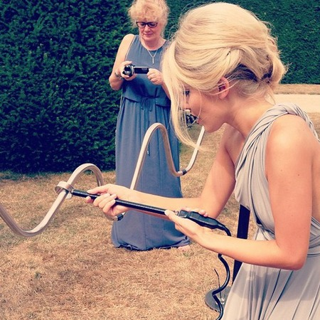 Mollie King bridesmaid at sister's wedding