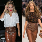 FASHION FIGHT! Rita Ora v Cara Delevingne in Burberry skirt
